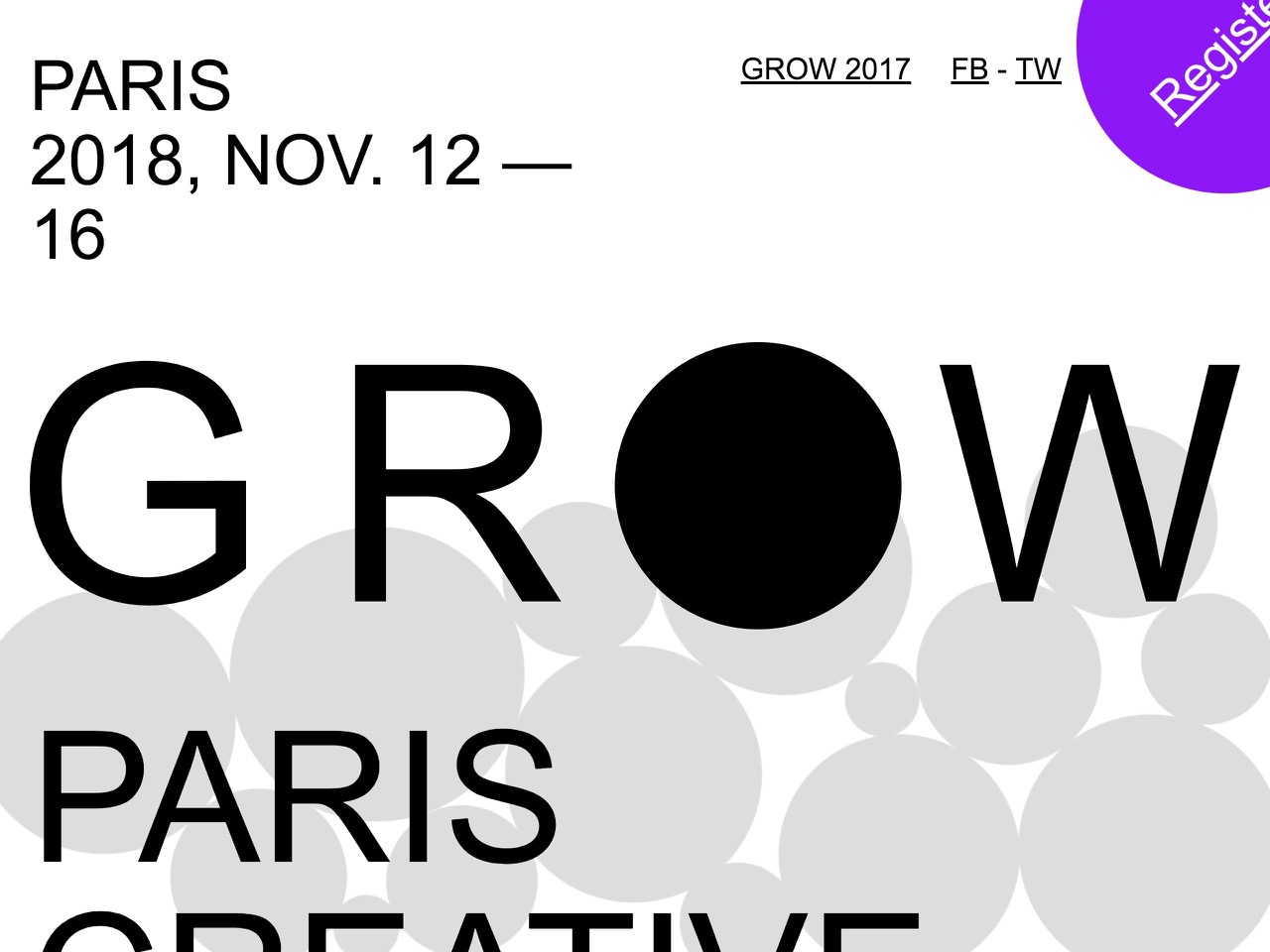 Grow   graphics on the web   11 12 and 11 16 in paris