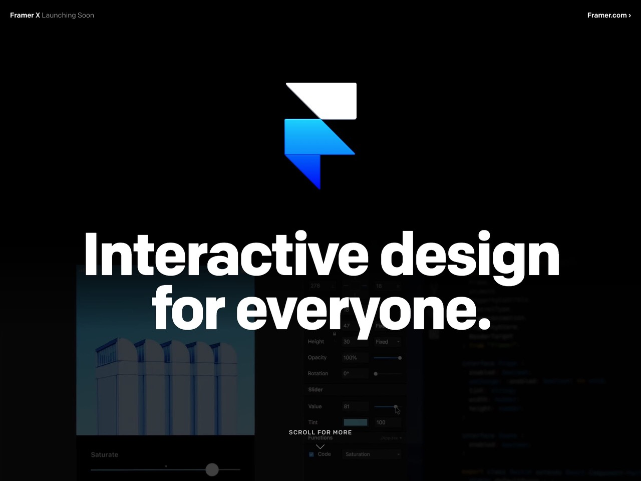 Framer x   interactive design for everyone