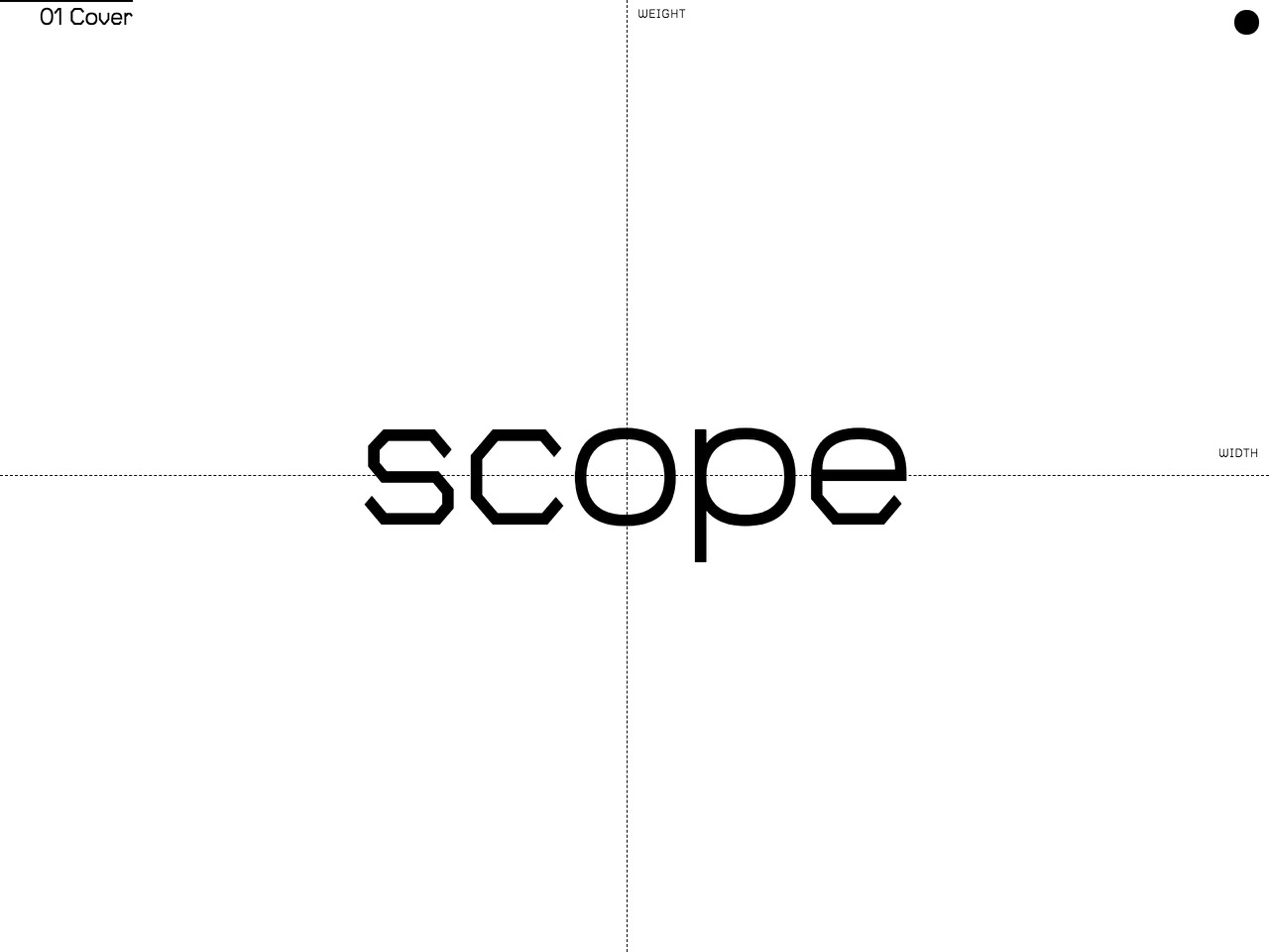 Scope   a variable typeface designed to enable typographic interactions