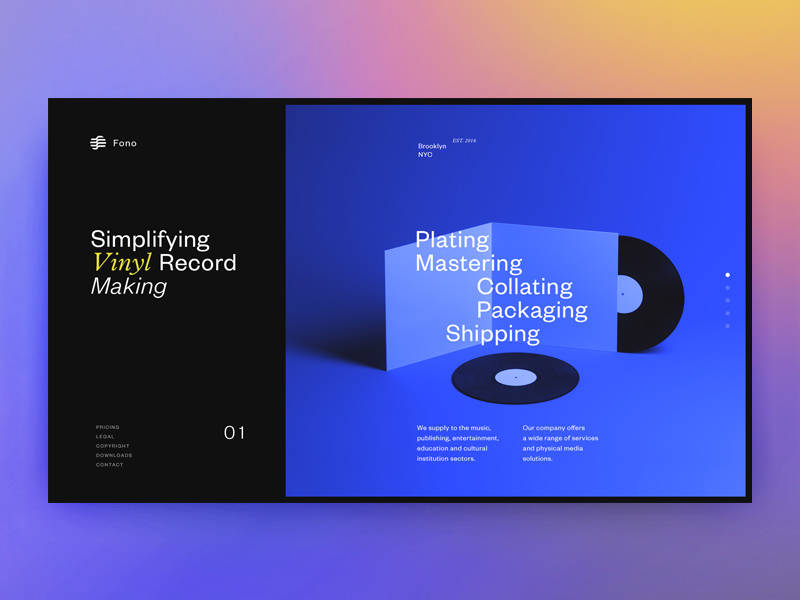 Fono homepage dribbble 2