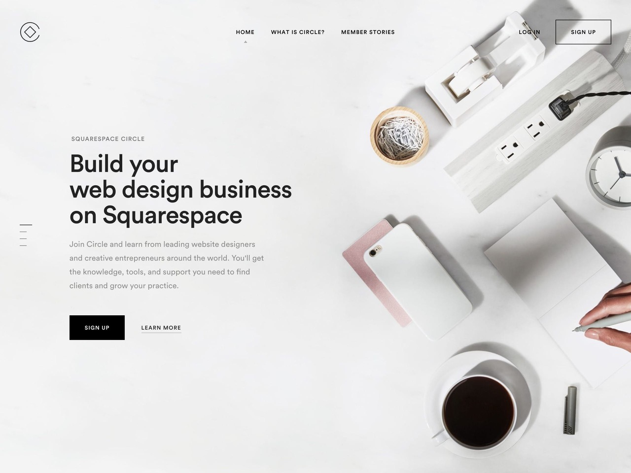 Squarespace circle  build your web design business