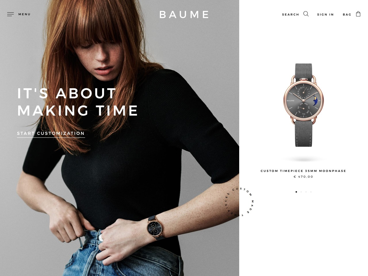 Environmentally responsible custom watches   baume watches