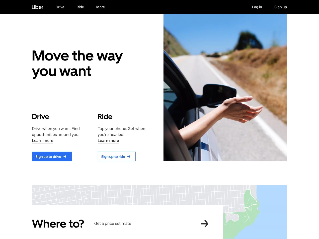 Uber   earn money by driving or get a ride now