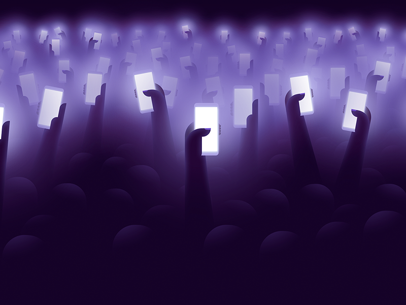 Wallpaper concert dribbble 4