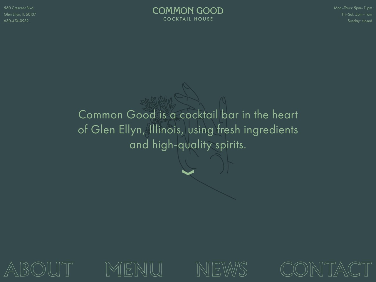 Common good cocktail house   cocktails  beer    food in glen ellyn