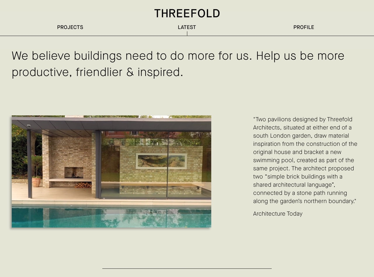 Projects   threefold architects   innovative  exciting  contemporary architecture that delights visually and experientially