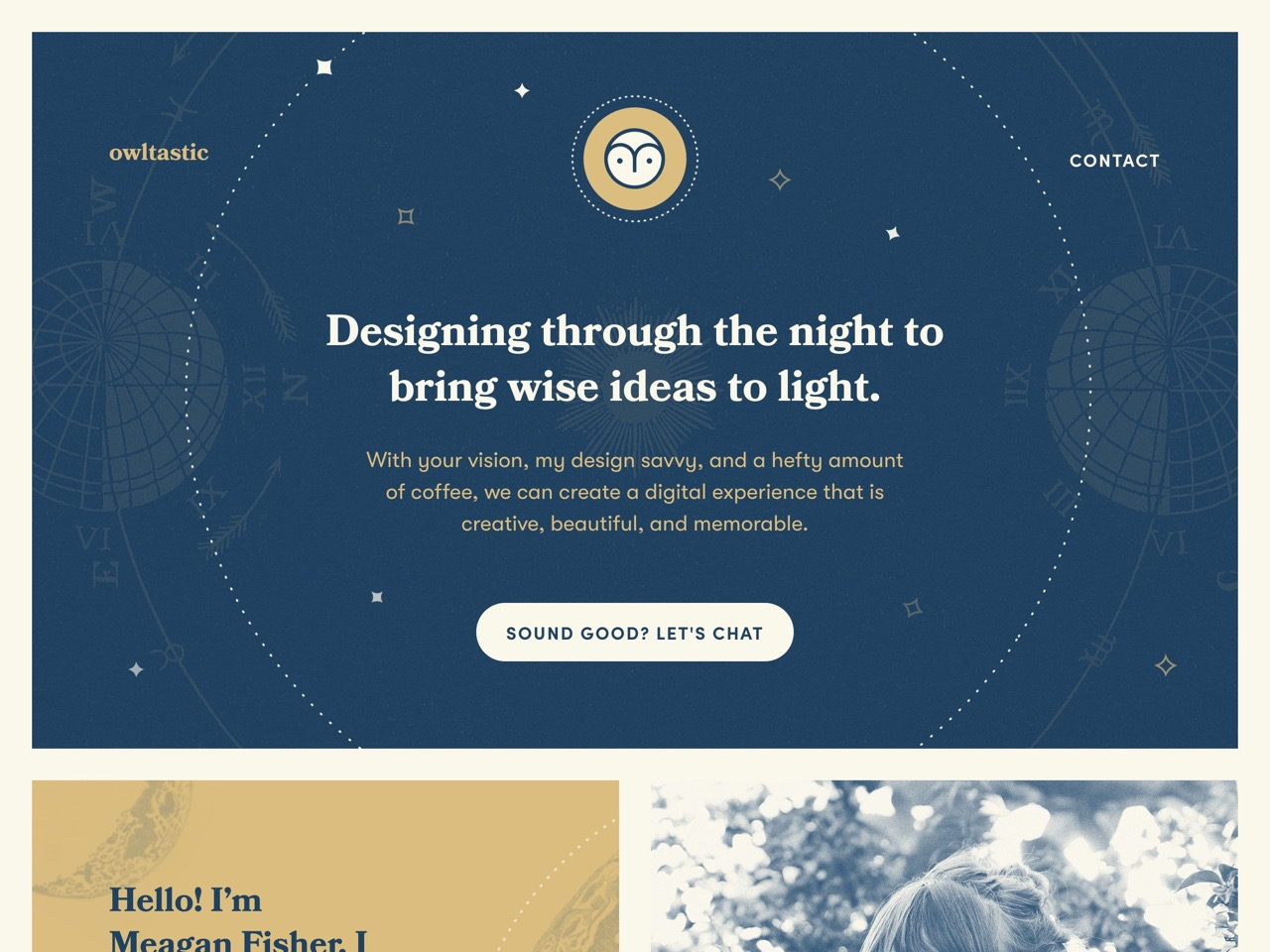 Owltastic   web design by meagan fisher couldwell