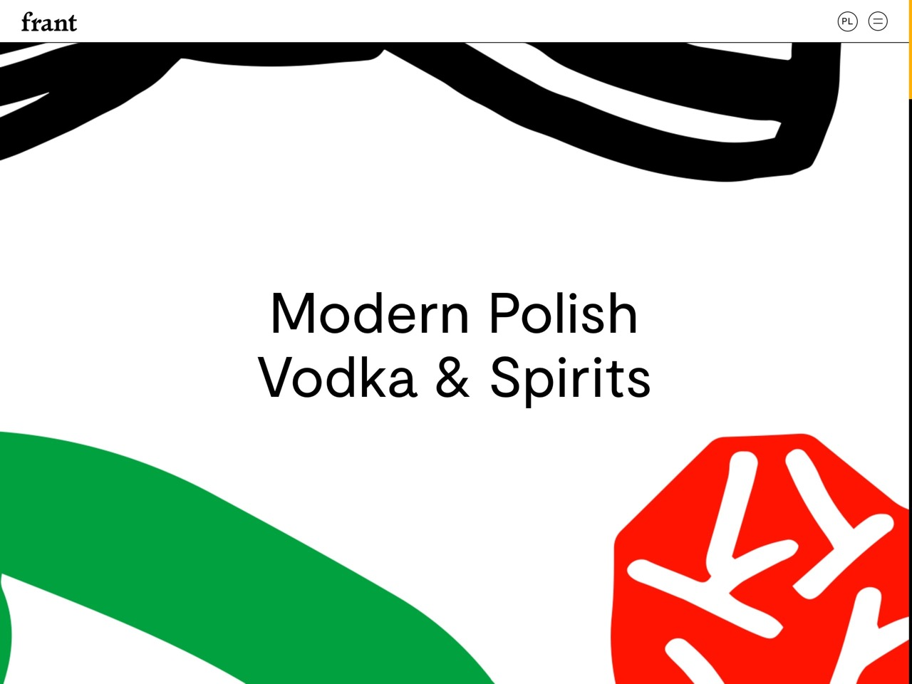 Frant   modern polish vodka   spirits