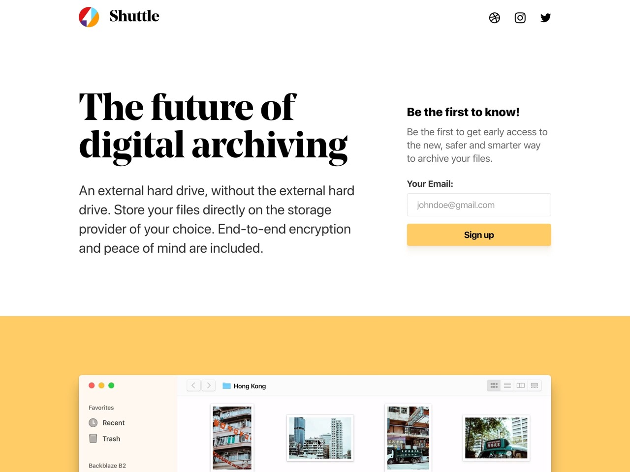 The future of digital archiving   shuttle