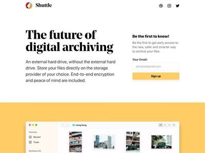 Thumb the future of digital archiving   shuttle
