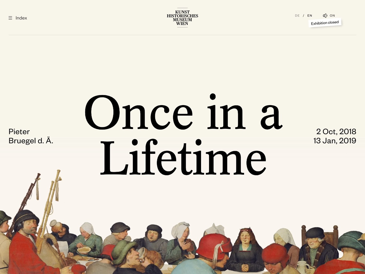Bruegel   once in a lifetime