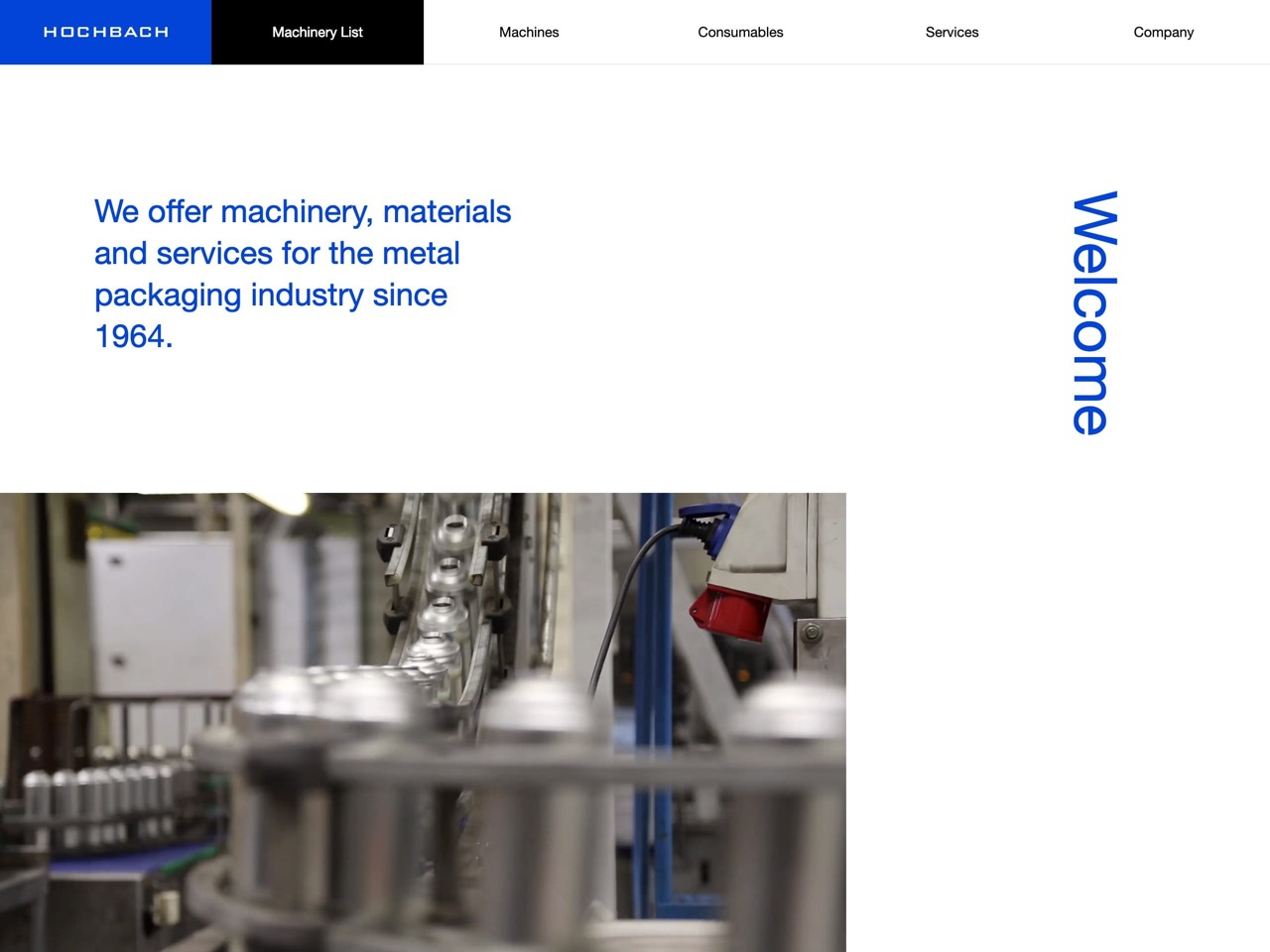 Hochbach gmbh   machinery  materials and services for the metal packaging industry