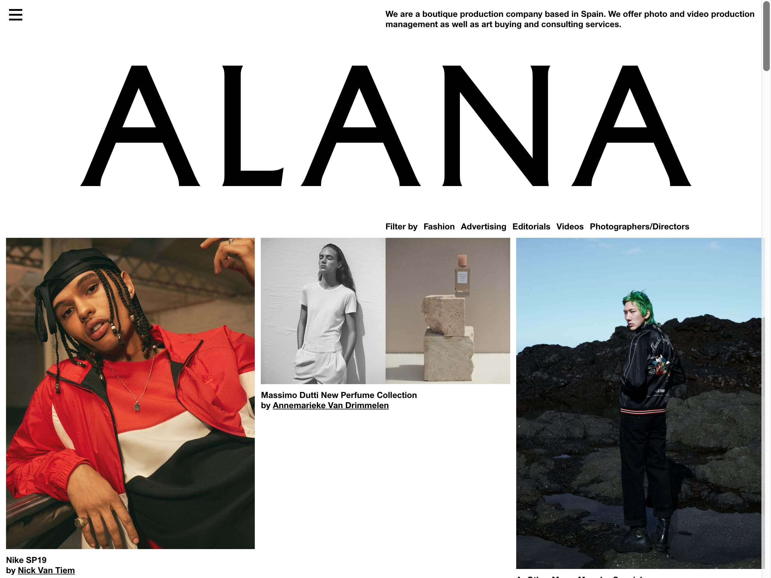 Alana   we are a boutique production company based in spain