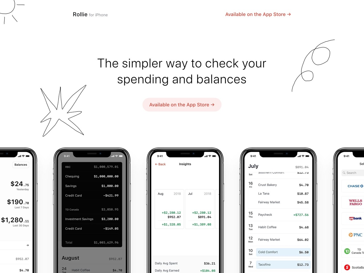 Rollie   spending tracker  2