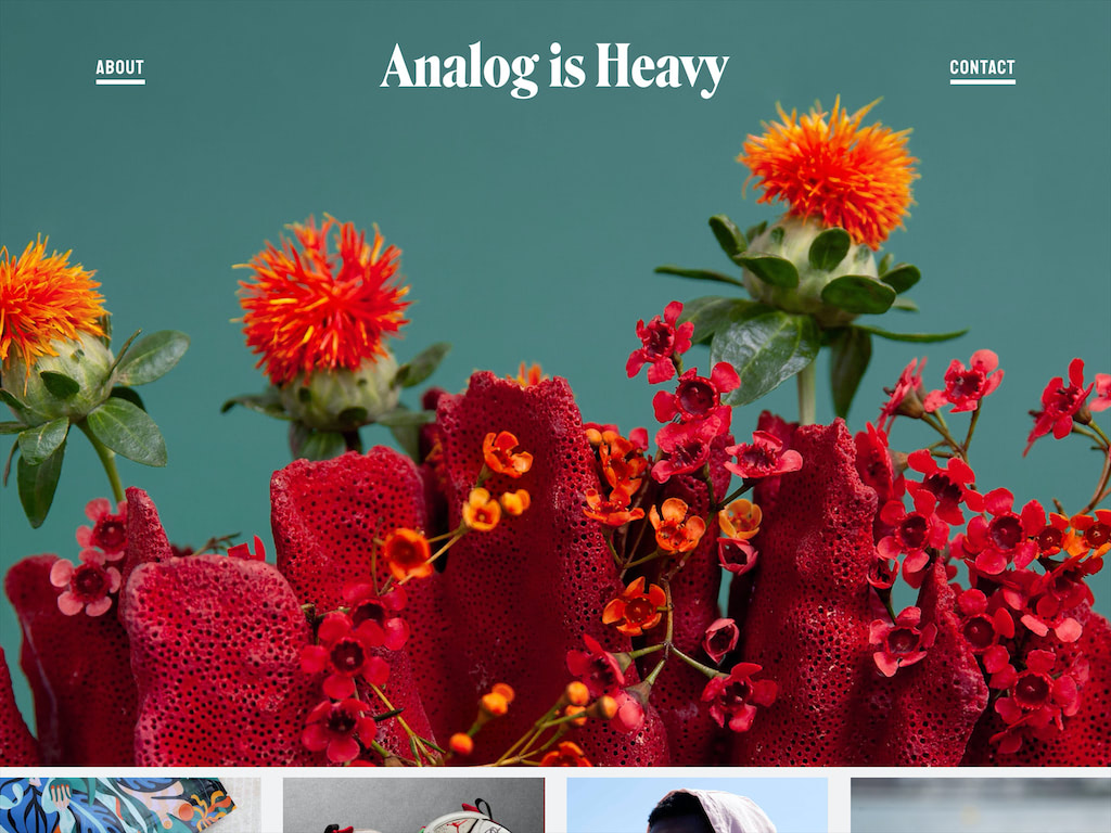 Analog is heavy  a nyc based creative studio with a focus on photography