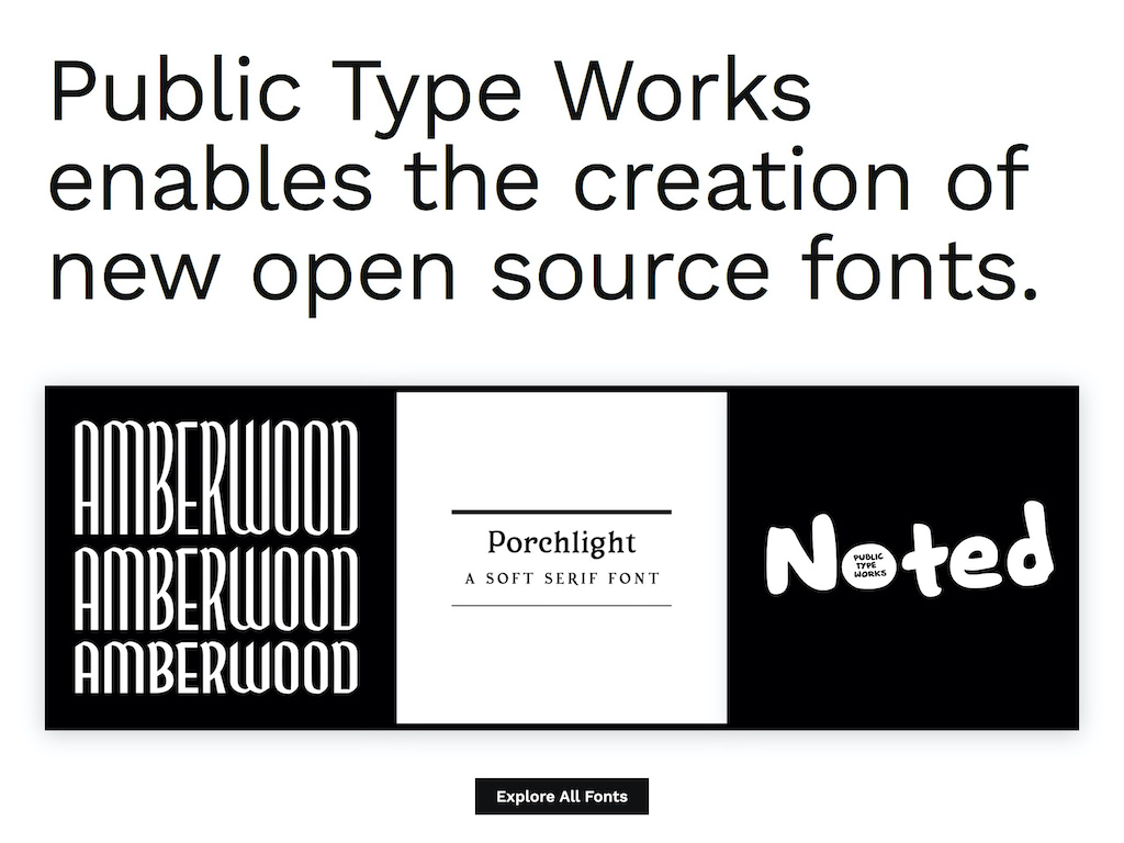 Public type works   fonts for the people