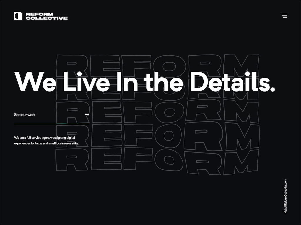 Reform collective   we live in the details