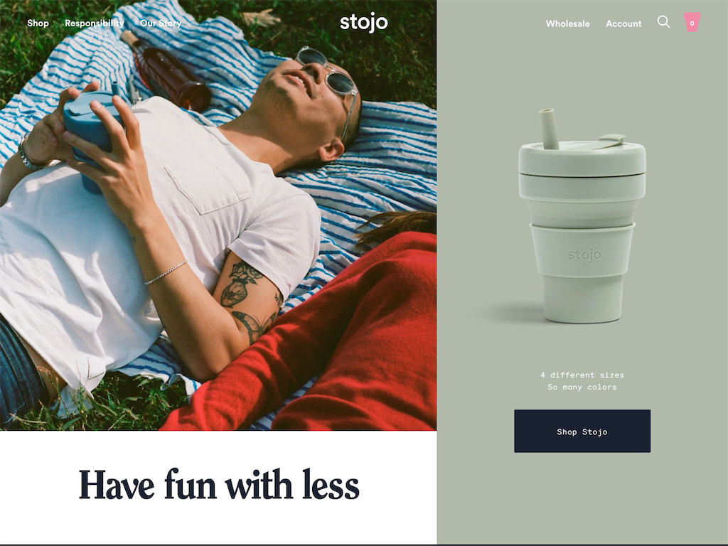 The collapsible travel cup   stojo