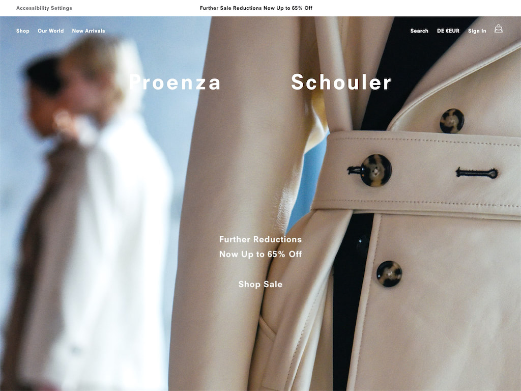 Proenza schouler official site   shop the new fall collection