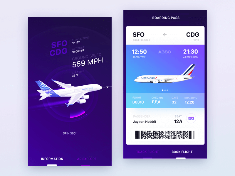 Airbus ui product design 2 2