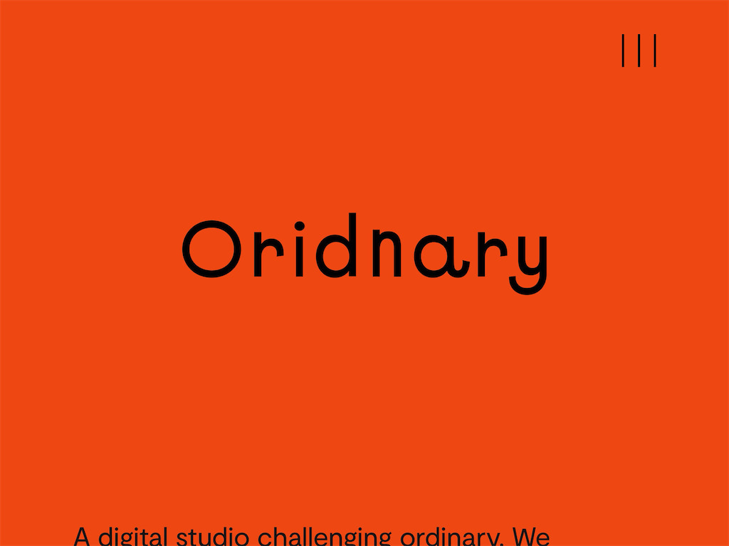 Oridnary   challenge ordinary