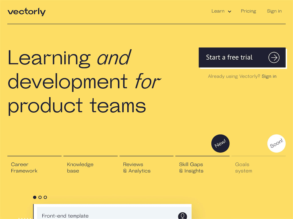 Learning and development for product teams