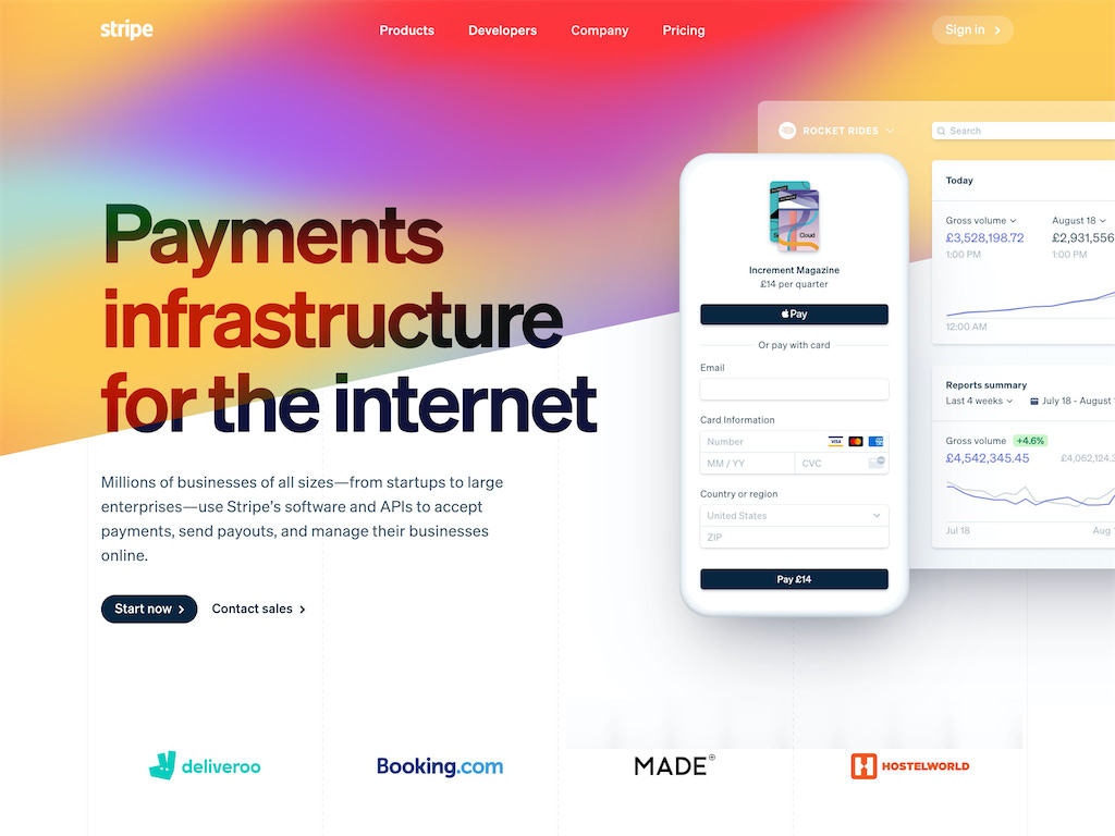 Online payment processing for internet businesses stripe