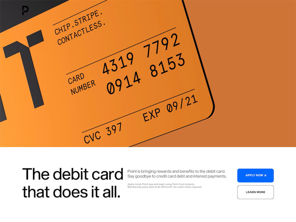 Point   the do it all debit card