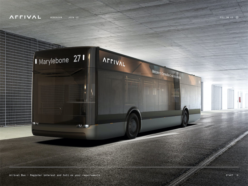 Arrival integrated transport ecosystem discover bus and van