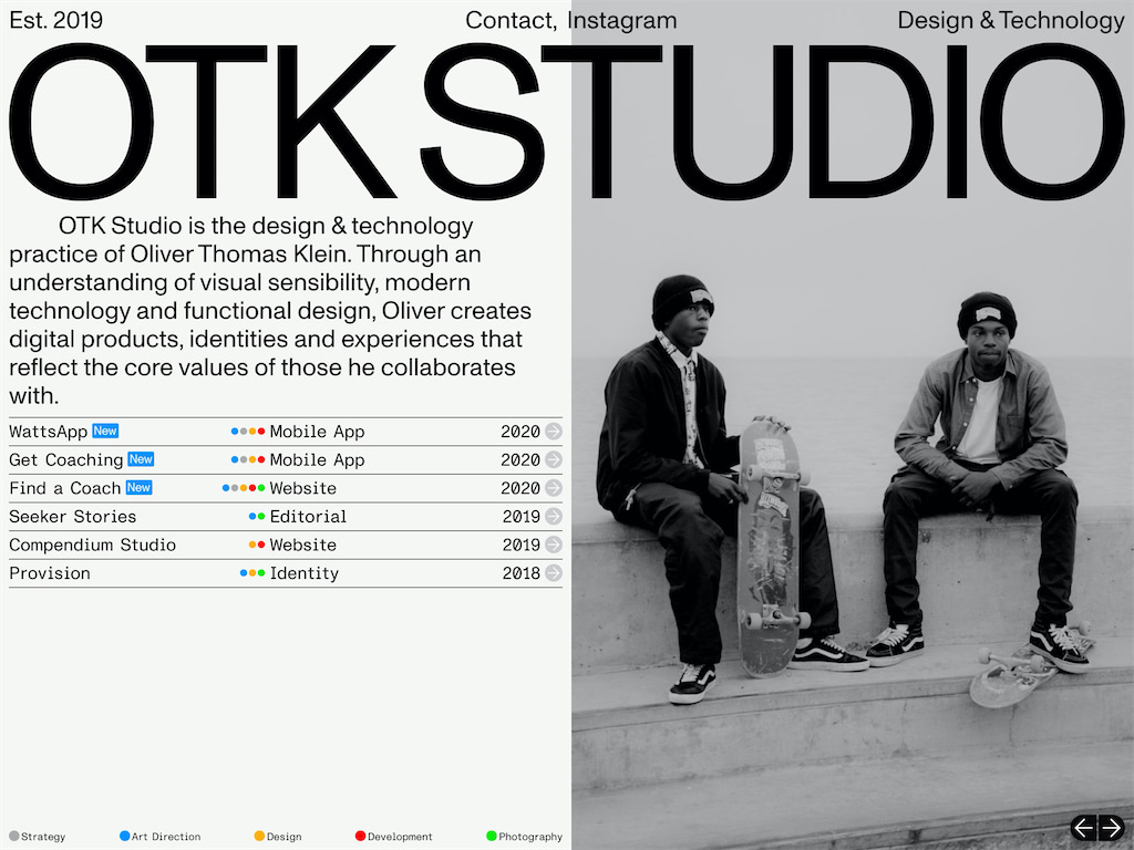 Otk studio design technology studio by oliver thomas klein