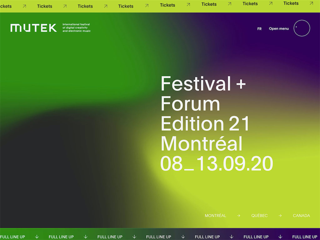 Mutek montreal international festival of digital creativity and