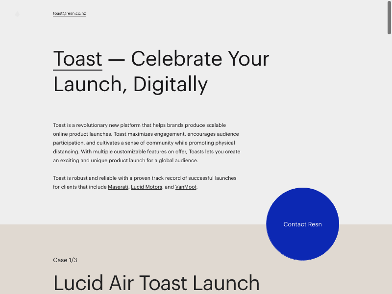 Toast   celebrate your launch digitally  1  min