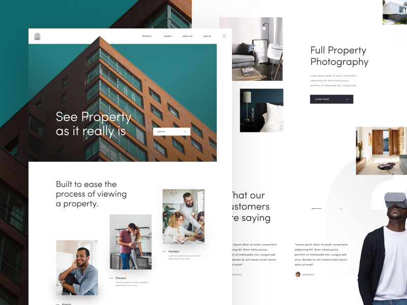 S landing page